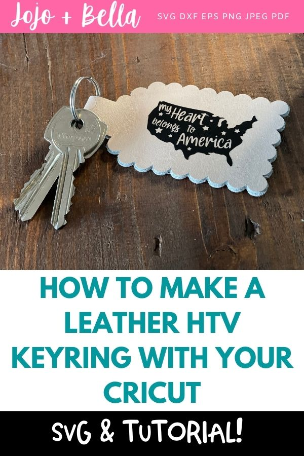 How to make a leather HTV keyring with your Cricut