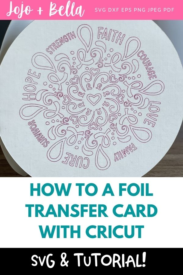 How to foil transfer card with your Cricut